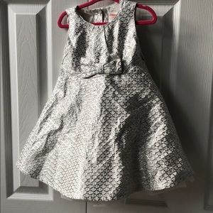 Gymboree silver foil and tulle party dress 18-24 m